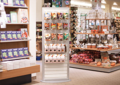 Slatwall displays for confectionery