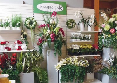 Slatwall for florists