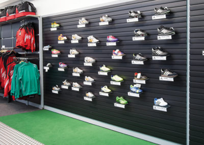 Slatwall for shoes in sports retail